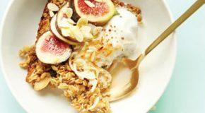 صبحانه مُقوی: جوی دو سر پخته با نارگیل برشته