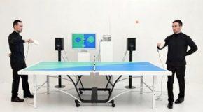 میز پینگ پنگی که مناسب با بازی موسیقی پخش می کند